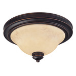 (2 Light) Flush Mount Ceiling Fixture - Copper Espresso / Honey Marble Glass - Nuvo Lighting 60-1405
