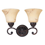 (2 Light) Vanity - Copper Espresso / Honey Marble Glass - Nuvo Lighting 60-1413