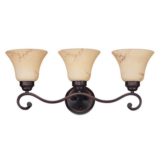 (3 Light) Vanity - Copper Espresso / Honey Marble Glass - Nuvo Lighting 60-1414
