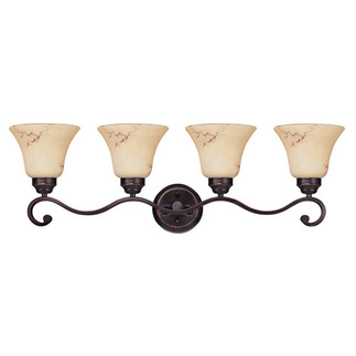 (4 Light) Vanity - Copper Espresso / Honey Marble Glass - Nuvo Lighting 60-1415