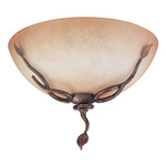 (2 Light) Flush Mount Ceiling Fixture - Autumn Gold / Toffee Crunch Glass - Nuvo Lighting 60-1424