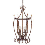 (6 Light) Cage Pendant - Autumn Gold - Nuvo Lighting 60-1427