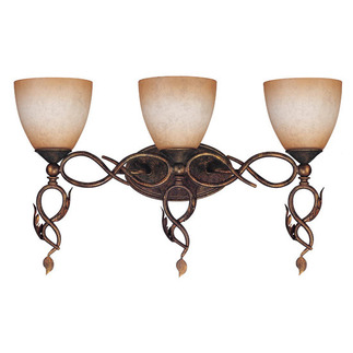 (3 Light) Vanity - Autumn Gold / Toffee Crunch Glass - Nuvo Lighting 60-1432