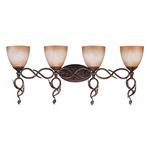 (4 Light) Vanity - Autumn Gold / Toffee Crunch Glass - Nuvo Lighting 60-1433