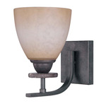 (1 Light) Vanity - Ledgestone / Toffee Crunch Glass - Nuvo Lighting 60-1448