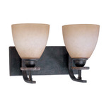 (2 Light) Vanity - Ledgestone / Toffee Crunch Glass - Nuvo Lighting 60-1449