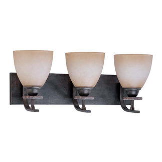 (3 Light) Vanity - Ledgestone / Toffee Crunch Glass - Nuvo Lighting 60-1451