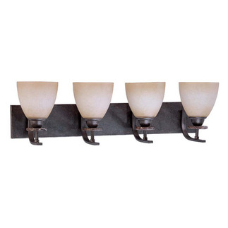 (4 Light) Vanity - Ledgestone / Toffee Crunch Glass - Nuvo Lighting 60-1452