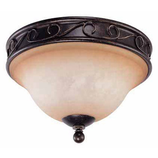 (2 Light) Flush Ceiling Fixture - Golden Umber / Toffee Crunch Glass - Nuvo Lighting 60-1505