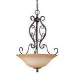 (3 Light) Pendant - Golden Umber / Toffee Crunch Glass - Nuvo Lighting 60-1507