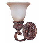 (1 Light) Vanity - Dark Plum Bronze / Amber Bisque Glass - Nuvo Lighting 60-1591 - Residential Light Fixture