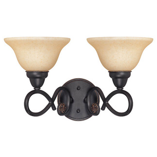 (2 Light) Vanity - Rustic Bronze / Tangerine Peel Glass - Nuvo Lighting 60-1632