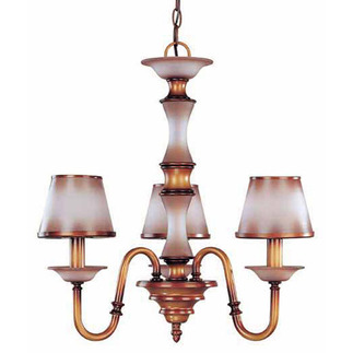(3 Light) Chandelier - Newport Copper / Autumn Haze Glass - Nuvo Lighting 60-1641