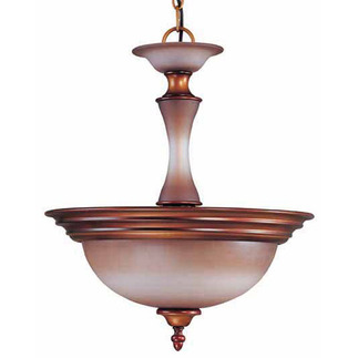 (2 Light) Pendant - Newport Copper / Autumn Haze Glass - Nuvo Lighting 60-1646