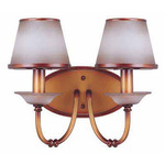 (2 Light) Vanity - Newport Copper / Autumn Haze Glass - Nuvo Lighting 60-1649