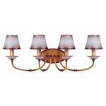 (4 Light) Vanity - Newport Copper / Autumn Haze Glass - Nuvo Lighting 60-1652