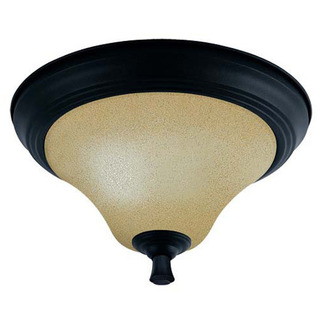 (2 Light) Flush Mount Ceiling Fixture - Mountain Lodge / Toasted Honey Glass - Nuvo Lighting 60-1725