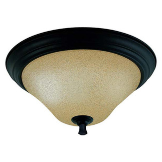 (2 Light) Flush Mount Ceiling Fixture - Mountain Lodge / Toasted Honey Glass - Nuvo Lighting 60-1728