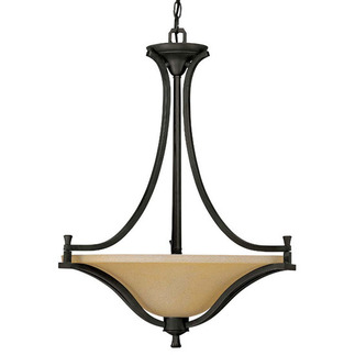 (4 Light) Large Pendant - Mountian Lodge / Toasted Honey Glass - Nuvo Lighting 60-1731