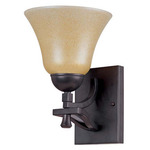 (1 Light) Vanity - Mountian Lodge / Toasted Honey Glass - Nuvo Lighting 60-1733