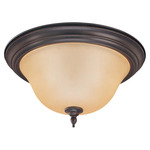 (2 Light) Flush Mount Ceiling Fixture - Sudbury Bronze / Vintage Champagne Glass - Nuvo Lighting 60-1765 - Residential Light Fixture