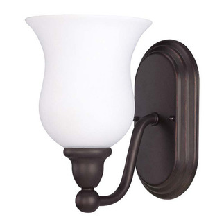 (1 Light) Vanity - Sudbury Bronze / Satin White Glass - Nuvo Lighting 60-1792