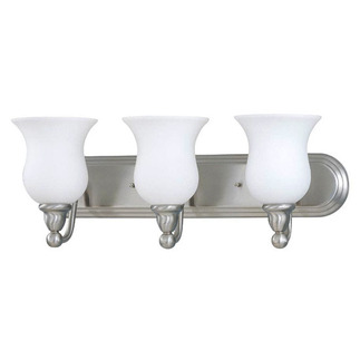 (3 Light) Vanity - Brushed Nickel / Satin White Glass - Nuvo Lighting 60-1814