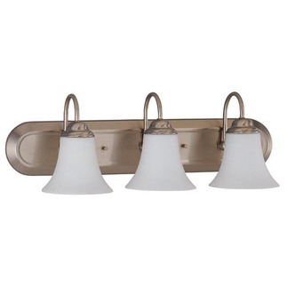 (3 Light) Vanity - Brushed Nickel / Satin White Glass - Nuvo Lighting 60-1834