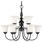 Nuvo 60-1843 (9 Light) (2 Tier) Chandelier