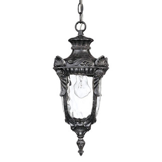 (1 Light) Hanging Lantern - Greystone / Clear Water Glass - Nuvo Lighting 60-2025 - Residential Light Fixture