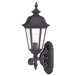 (1 Light) (Arm Up) Mid-Size Wall Lamp - Satin Iron Ore / Seeded Glass - Nuvo Lighting 60-2033