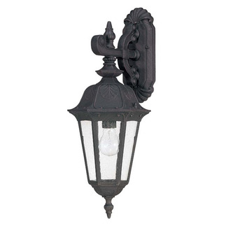 (1 Light) (Arm Down) Mid-Size Wall Lamp - Satin Iron Ore / Seeded Glass - Nuvo Lighting 60-2034