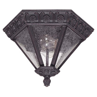 (1 Light) Flush Dome - Satin Iron Ore / Seeded Glass - Nuvo Lighting 60-2037
