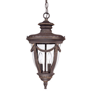 (2 Light) Hanging Lantern - Belgium Bronze / Seeded Glass - Nuvo Lighting 60-2048