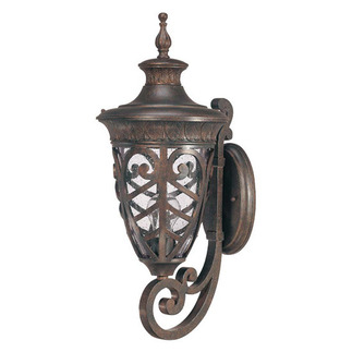 (1 Light) (Arm Up) Mid-Size Wall Lamp - Dark Plum Bronze / Seeded Glass - Nuvo Lighting 60-2053