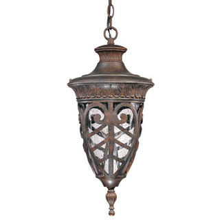 (1 Light) Hanging Lantern - Dark Plum Bronze / Seeded Glass - Nuvo Lighting 60-2058 - Residential Light Fixture