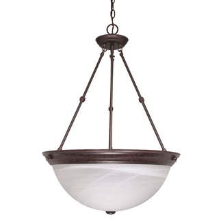 (3 Light) Pendant - Old Bronze / Alabaster Glass - Nuvo Lighting 60-212