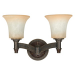 (2 CFL) Vanity - Golden Umber / Burnt Sienna Glass - Energy Star Qualified - Nuvo Lighting 60-2452