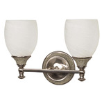 (2 CFL) Vanity - Brushed Nickel / Alabaster Swirl Glass - Energy Star Qualified - Nuvo Lighting 60-2482