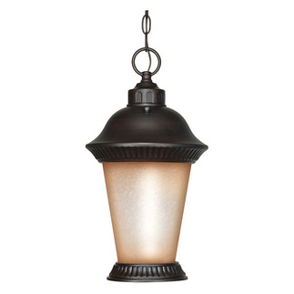 (1 Light) Hanging Lantern - Chestnut Bronze / Brushed Wheat Glass - Nuvo Lighting 60-2504