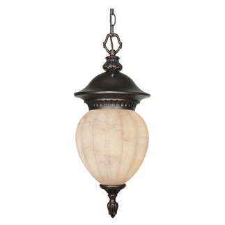 (3 Light) Hanging Lantern - Chestnut Bronze / Honey Marble Glass - Nuvo Lighting 60-2514