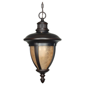 (3 Light) Hanging Lantern - Old Penny Bronze / Tobago Glass - Nuvo Lighting 60-2521