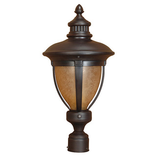 (1 Light) Post Lantern - Old Penny Bronze / Tobago Glass - Nuvo Lighting 60-2522