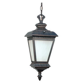 (1 Light) Hanging Lantern - Old Penny Bronze / White Water Glass - Nuvo Lighting 60-2524