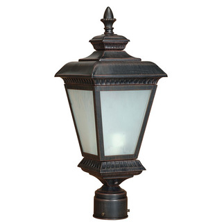 (2 Light) Post Lantern - Old Penny Bronze / White Water Glass - Nuvo Lighting 60-2525 - Residential Light Fixture