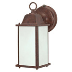 (1 CFL) Wall Lantern - Old Bronze / Frosted Beveled Glass - Nuvo Lighting 60-2528 - Residential Light Fixture