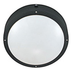 (2 Light) Round Wall or Ceiling Fixture - Matte Black / White Lexan - Nuvo Lighting 60-2541