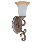 (1 Light) Vanity - Cappuccino / Amaretto Glass - Nuvo Lighting 60-2713 - Residential Light Fixture