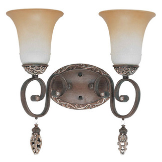 (2 Light) Vanity - Cappuccino / Amaretto Glass - Nuvo Lighting 60-2714