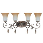 (4 Light) Vanity - Cappuccino / Amaretto Glass - Nuvo Lighting 60-2716 - Residential Light Fixture